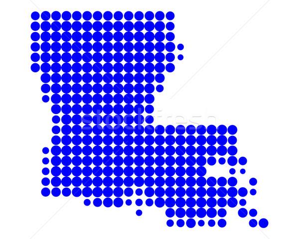 Mappa Louisiana blu pattern america cerchio Foto d'archivio © rbiedermann