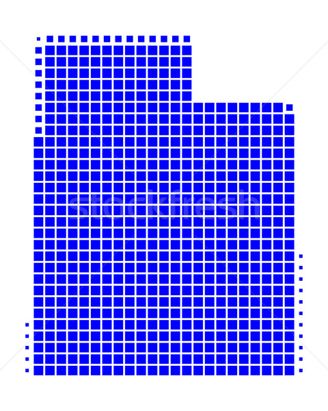 Pokaż Utah niebieski wzór Ameryki placu Zdjęcia stock © rbiedermann