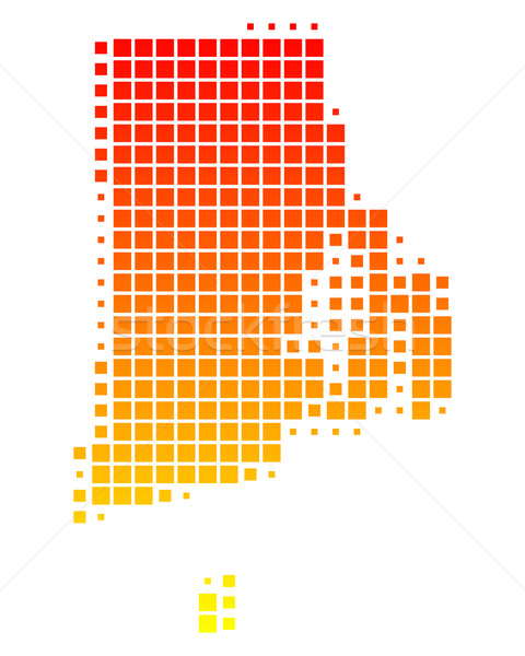 Mapa Rhode Island padrão EUA praça ilustração Foto stock © rbiedermann
