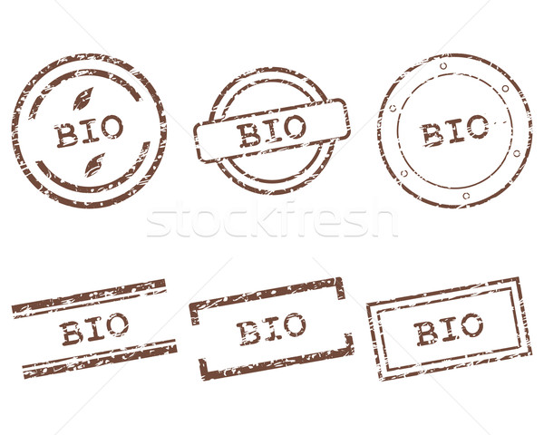 Stockfoto: Bio · postzegels · stempel · grafische · tag · zegel