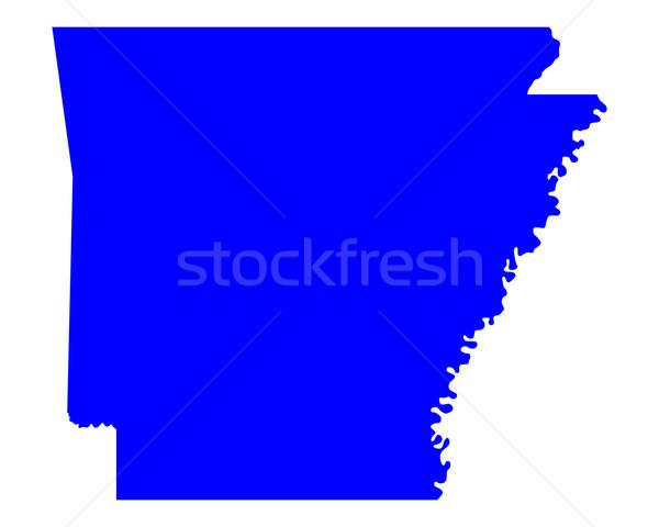 Térkép Arkansas kék utazás Amerika USA Stock fotó © rbiedermann