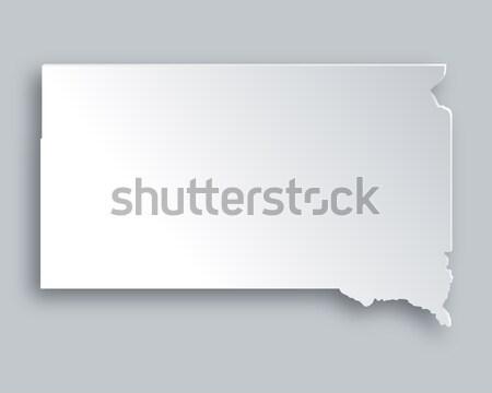 Térkép Dél-Dakota papír háttér utazás kártya Stock fotó © rbiedermann