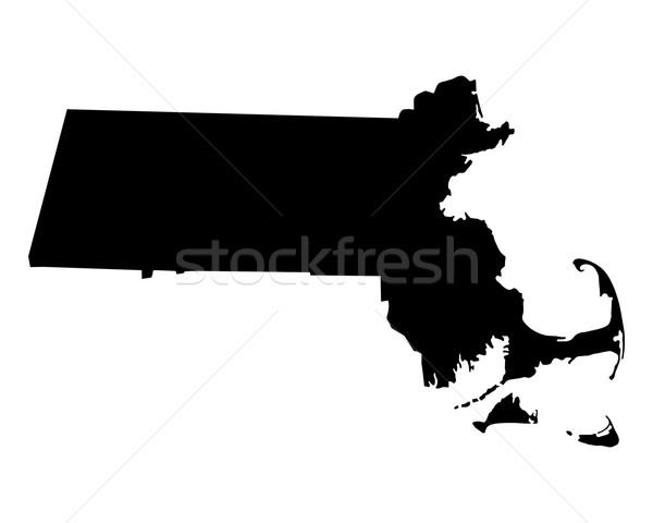 Harita Massachusetts seyahat siyah Amerika ABD Stok fotoğraf © rbiedermann