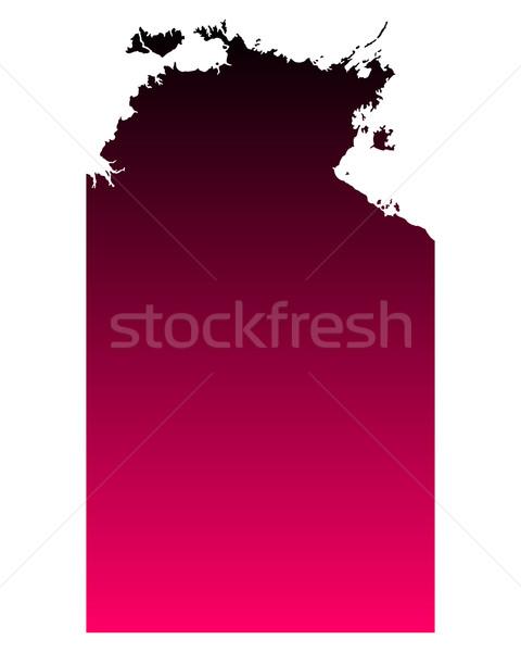 Mappa settentrionale territorio rosa viola vettore Foto d'archivio © rbiedermann