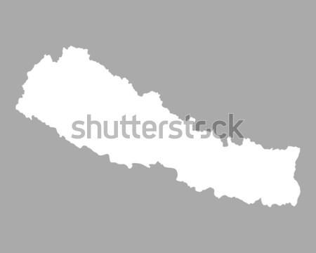 Harita Nepal arka plan örnek Stok fotoğraf © rbiedermann