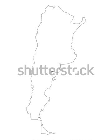 карта Аргентина фон изолированный иллюстрация Сток-фото © rbiedermann