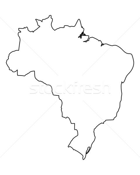 Térkép Brazília izolált illusztráció Stock fotó © rbiedermann