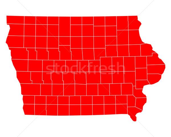 карта Айова путешествия красный США изолированный Сток-фото © rbiedermann