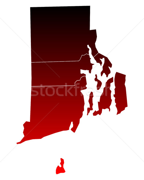 Map of Rhode Island Stock photo © rbiedermann