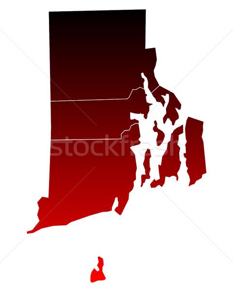 Harita Rhode Island seyahat kırmızı ada ABD Stok fotoğraf © rbiedermann