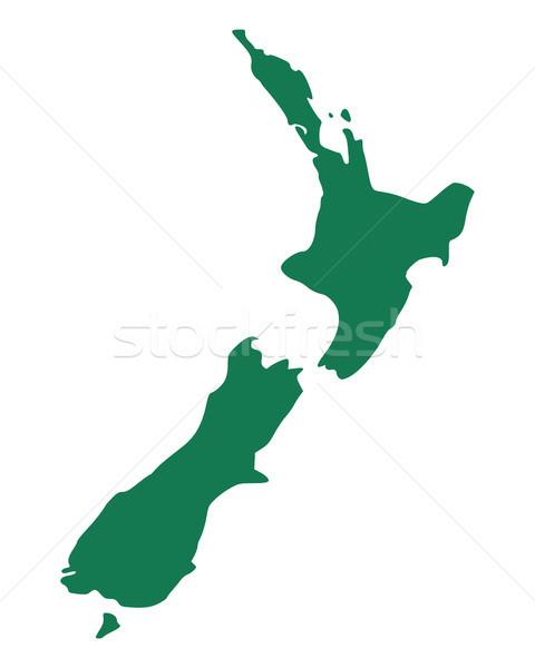Mapa Nova Zelândia fundo linha vetor Foto stock © rbiedermann