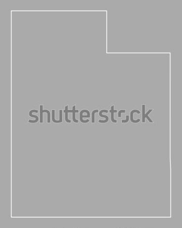 Carte Utah USA vecteur isolé illustration Photo stock © rbiedermann