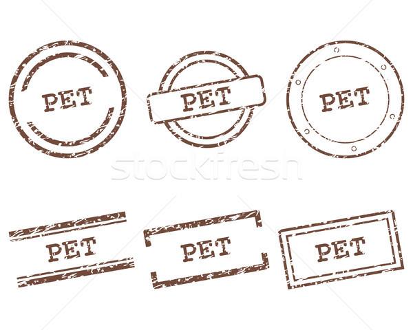 Stockfoto: Huisdier · postzegels · stempel · grafische · verkoop · tag