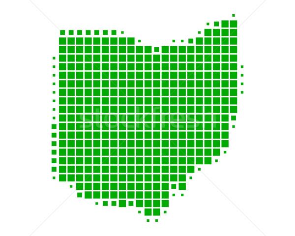 Térkép Ohio zöld minta Amerika tér Stock fotó © rbiedermann