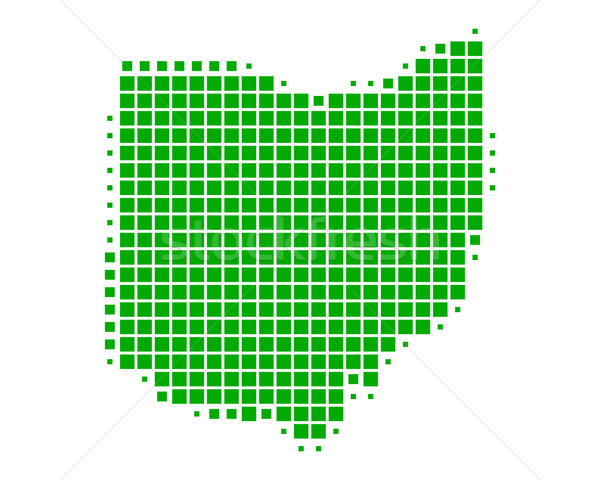 Harita Ohio yeşil model Amerika kare Stok fotoğraf © rbiedermann