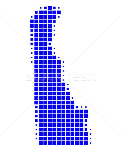 Mapa Delaware azul padrão américa EUA Foto stock © rbiedermann