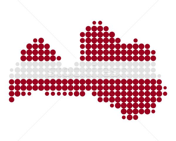 Kaart vlag Letland achtergrond reizen cirkel Stockfoto © rbiedermann