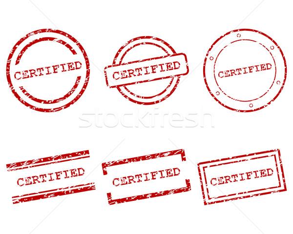 Certificado selos projeto carta carimbo membro Foto stock © rbiedermann