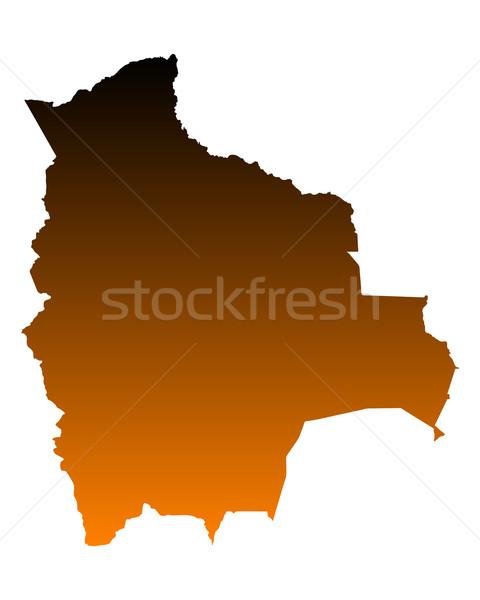地図 ボリビア ベクトル 孤立した 実例 ストックフォト © rbiedermann