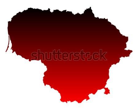 Mapa Lituânia fundo linha vetor Foto stock © rbiedermann