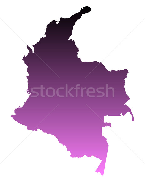 карта Колумбия путешествия розовый вектора Сток-фото © rbiedermann