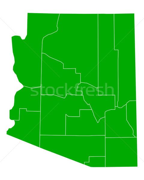 Térkép Arizona háttér zöld vonal vektor Stock fotó © rbiedermann