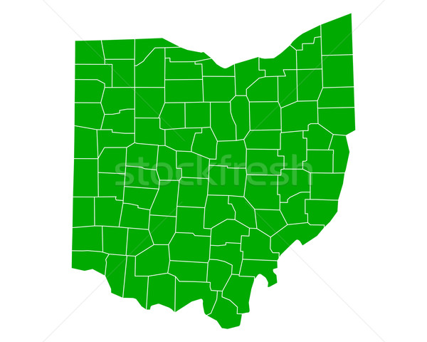 地図 オハイオ州 背景 緑 行 ベクトル ストックフォト © rbiedermann