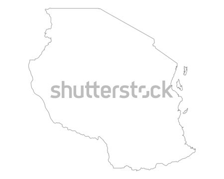 карта Танзания фон изолированный иллюстрация Сток-фото © rbiedermann