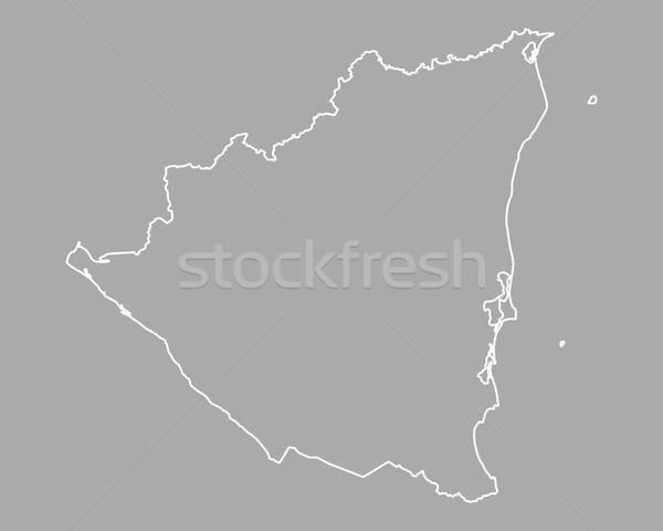 Mapa Nicarágua fundo isolado ilustração Foto stock © rbiedermann