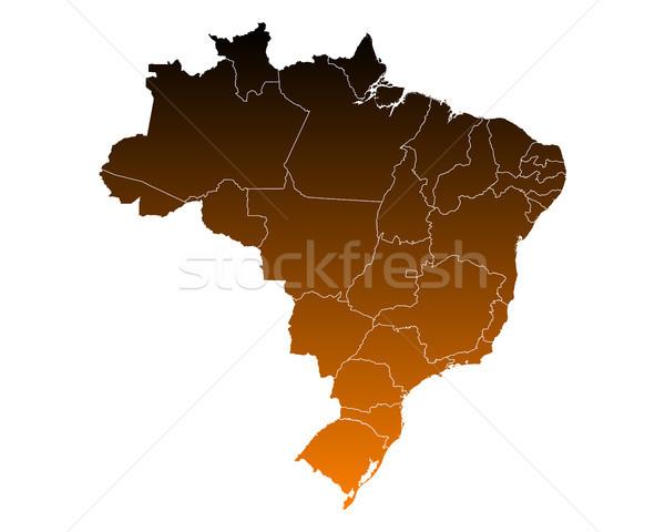 Térkép Brazília háttér vonal vektor illusztráció Stock fotó © rbiedermann