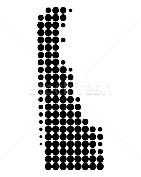 Mapa Delaware preto padrão américa círculo Foto stock © rbiedermann