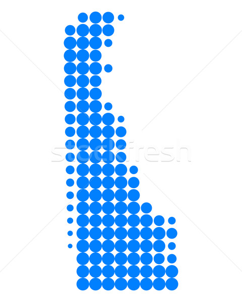 Kaart Delaware Blauw patroon amerika cirkel Stockfoto © rbiedermann
