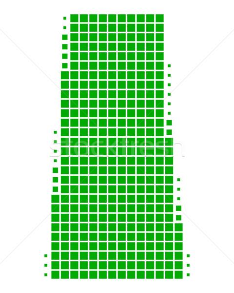 Kaart saskatchewan groene reizen patroon vierkante Stockfoto © rbiedermann