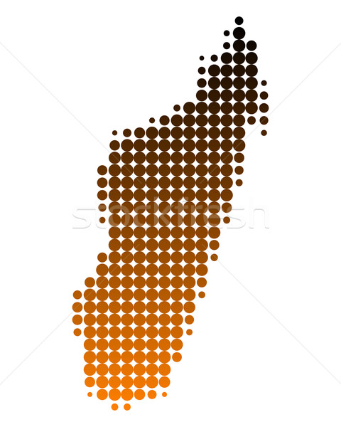 Map of Madagascar Stock photo © rbiedermann