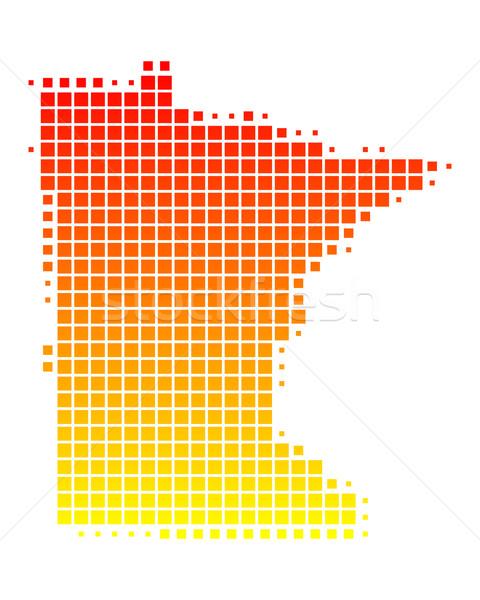 Térkép Minnesota minta Amerika tér illusztráció Stock fotó © rbiedermann