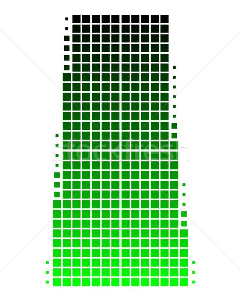 Mapa saskatchewan verde viaje patrón cuadrados Foto stock © rbiedermann