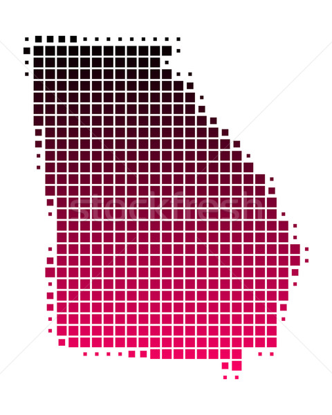 Mappa Georgia pattern rosa america viola Foto d'archivio © rbiedermann