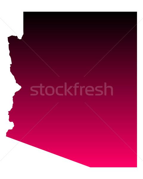 карта Аризона путешествия розовый Америки Purple Сток-фото © rbiedermann