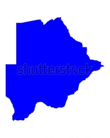 Harita Botsvana mavi seyahat vektör Stok fotoğraf © rbiedermann