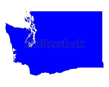 Carte Caroline du Nord bleu Voyage Amérique USA Photo stock © rbiedermann
