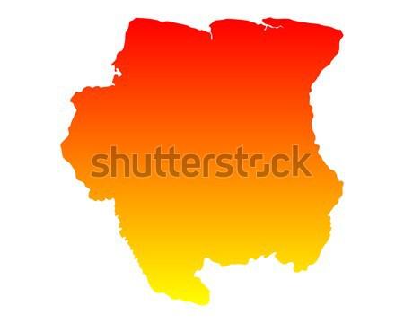 Сток-фото: карта · Суринам · вектора · изолированный
