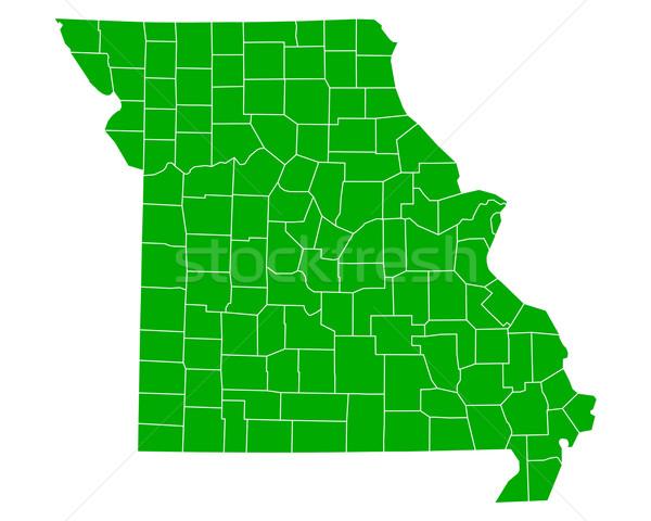 Carte Missouri fond vert ligne vecteur Photo stock © rbiedermann