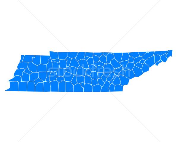 Pokaż Tennessee niebieski podróży USA odizolowany Zdjęcia stock © rbiedermann