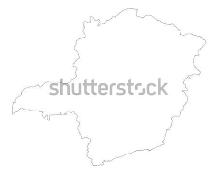Mapa Tailandia fondo aislado ilustración Foto stock © rbiedermann