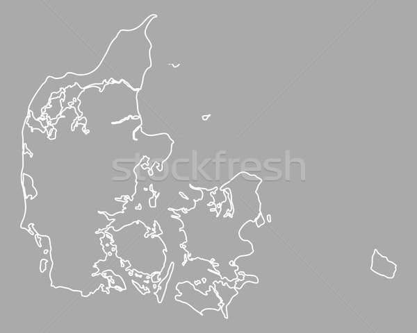 Mapa Dinamarca fundo isolado ilustração Foto stock © rbiedermann