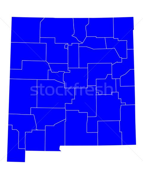 карта Нью-Мексико синий путешествия США Мексика Сток-фото © rbiedermann