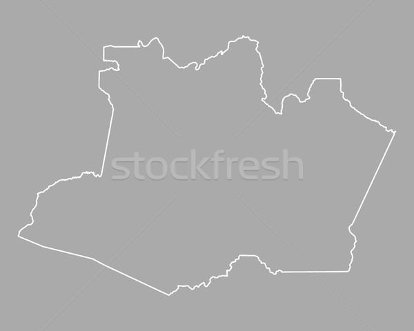 Map of Amazonas Stock photo © rbiedermann
