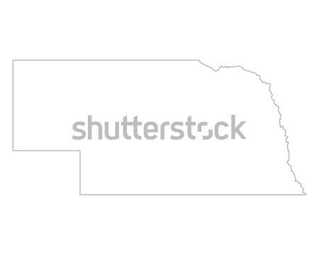 Mapa Nebraska fundo linha EUA Foto stock © rbiedermann