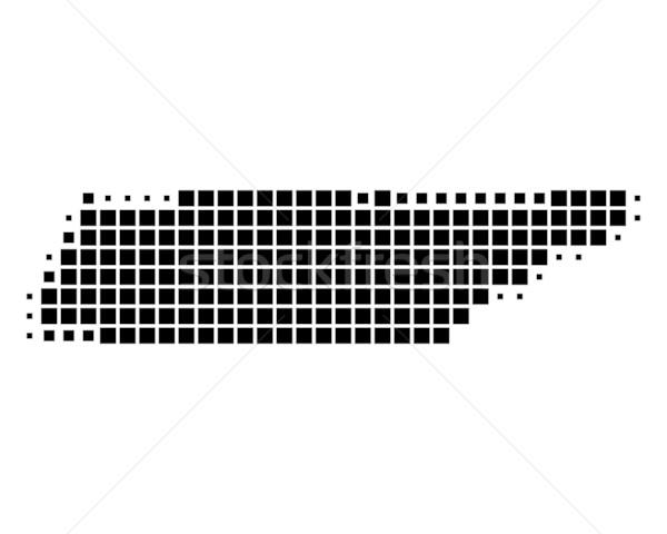 Mapa Tennesse negro patrón cuadrados Foto stock © rbiedermann
