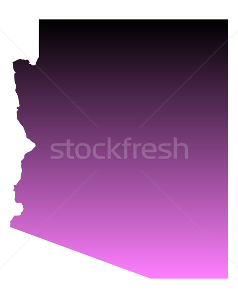 Kaart Arizona reizen roze amerika USA Stockfoto © rbiedermann